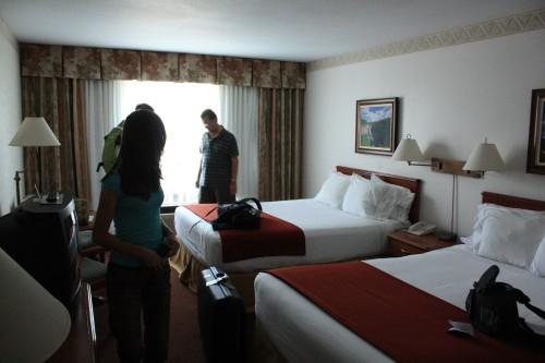 Nog een keer een foto van onze hotelkamer, zodat jullie ook eens kunnen zien hoe wij slapen deze vakantie