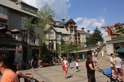 Het centrum van Whistler