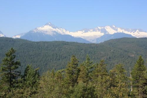 De bergen net na Whistler: één van de laatste vergezichten in Canada