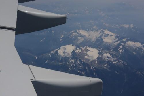 Een laatste blik op de Canadese bergen